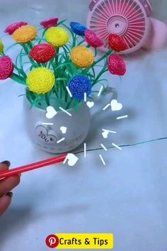 Paper Crafts For Kids, Diy Arts And Crafts, Cute Crafts, Creative Crafts, Crafts To Make, Art N Craft, Craft Stick Crafts, Paper Flowers Diy, Flower Crafts