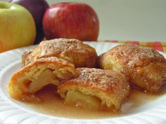 Super Easy Country Apple Dumplings! Butter with a Side of Bread #recipe #apples