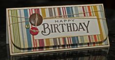 WaterDots: Money Holder Birthday Card Masculine
