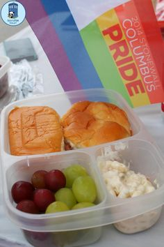 Lunches packed for pride festival - with #EasyLunchboxes Containers