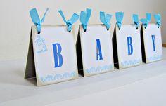 Baby shower centerpiece tent boy light blue by suzyssentiments, $21.00