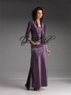 Sheath Square Ankle-length Taffeta Mother of the Bride Dress MOB0037 $80.99