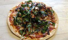 Rainbow Chard Flat Bread Pizza | CutNClean.com | Delicious flat bread ...