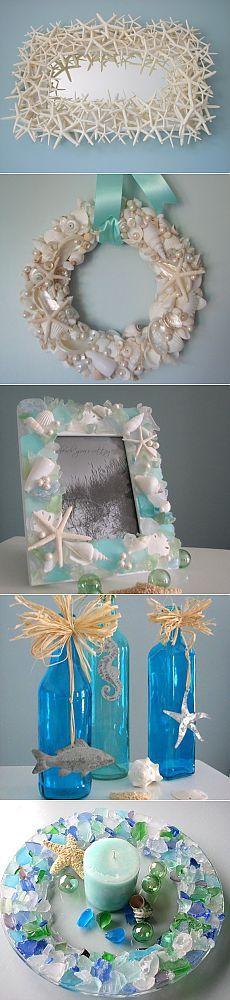Потрясающий декор из морских трофеев от Beach Grass Cottage.