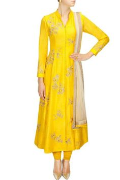 Traditional Long suit in yellow