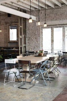 Feast of Merit in Richmond, Melbourne uses reclaimed wood, metal, and furniture in their restaurant.