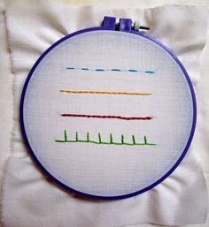 Embroidery 101: Four basic stitches. Click through instructions.