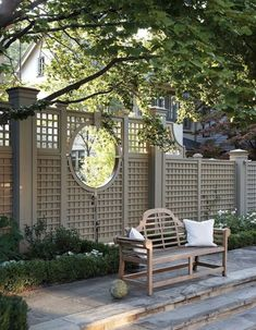 Find top outdoor design and landscaping ideas from experts to elevate your backyard, garden, patio or porch this spring and summer. Privacy Landscaping, Modern Landscaping, Backyard Landscaping, Landscaping Ideas, Farmhouse Landscaping, Fence Design, Patio Design, Garden Design, Modern Landscape Design