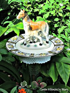 Yard Totems | Vintage Horse and Foal Garden Totem Stake by GardenWhimsiesByMary, $37 ...