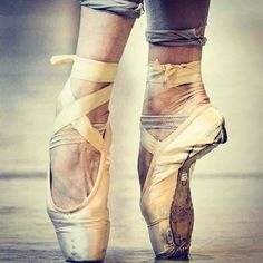 Pointe shoes can say so much about the dancer. beautiful
