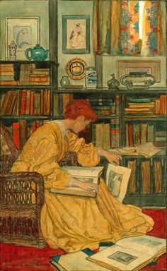 Shop The Library by Elizabeth Shippen Green Poster created by vintage_illustration. Personalize it with photos & text or purchase as is! Reading Art, Woman Reading, Reading Books, I Love Books, Books To Read, Children's Books, Image Avatar, Carl Larsson, Art Graphique