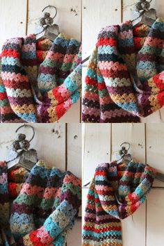 Beautiful crochet scarf.