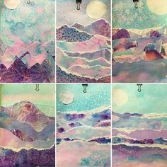 Fifth and Sixth graders explored many different types of watercolor techniques to make these polar landscapes. Fifth and Sixth graders explored many different types of watercolor techniques to make these polar landscapes. Watercolor Techniques, Art Techniques, Arte Elemental, Art Watercolor, Abstract Watercolor Tutorial, Watercolor Pencils, Abstract Art, Watercolor Projects, Watercolor Landscape
