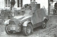 A Morris CS9/LAC in France, 1940. Army Vehicles, Armored Vehicles, Armored Car, Military Photos, Military History, Anti Tank Rifle, Armoured Personnel Carrier, British Armed Forces, Armored Fighting Vehicle