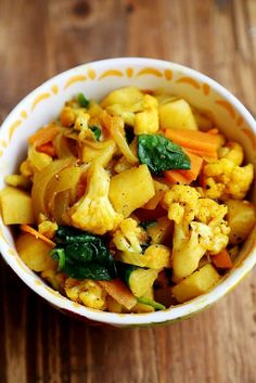 Potato and Cauliflower Curry Stir-Fry.