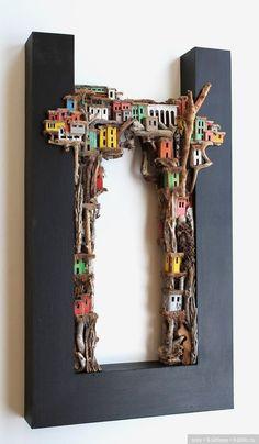 Красочные трущобы. Художник Eric Cremers / Куклы из дерева, папье маше / Бэйбики. Куклы фото. Одежда для кукол