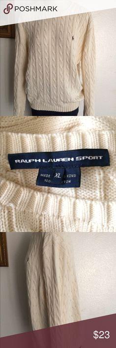 Ralph Lauren Ralph Lauren polo sport women's sweater . Beige with brown logo only worn a couple of times looks new! Runs small🤗 Ralph Lauren Sweaters Crew & Scoop Necks