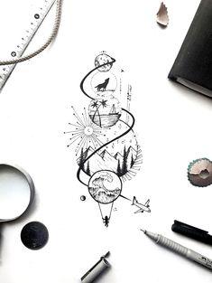 Dope Tattoos, Body Art Tattoos, Tattoos For Guys, Sleeve Tattoos, Spine Tattoos For Women, Tattoos To Draw, Tattoos For Boyfriend, Tattoos On Hand, Unique Hand Tattoos