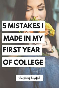Don't make these mistakes during your freshman year! Learn from these college tips.