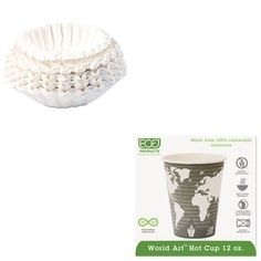 KITBUN1M5002ECOEPBHC12WA  Value Kit  ECOPRODUCTSINC World Art Renewable Resource Compostable Hot Cups ECOEPBHC12WA and Bunn Coffee Commercial Coffee Filters BUN1M5002 ** Check out this great product by click affiliate link Amazon.com