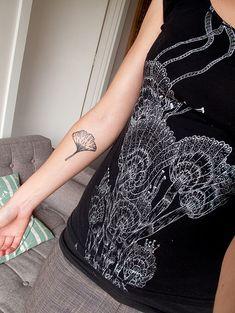 ginkgo tattoo by birds & trees, via Flickr #ink #tattoo