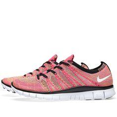 wholesale dealer 58599 b7d52 Nike Free Flyknit (Pink Flash  White)
