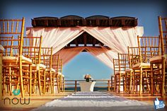 A beautiful wedding altar for your destaintion wedding at Now Jade Riviera Cancun!