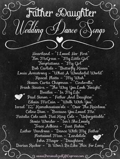 Father Daughter wedding dance songs