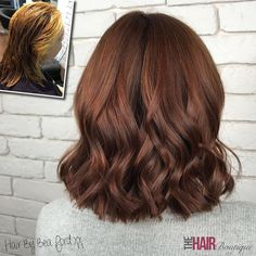A lovely 'dark copper' colour correction by our Style Director - Bea Ford Bea, who is a top level style director in our salon, is part of the world's most elite group of hair colourists; the Goldwell Master Colourists. Red Brown Hair, Brown Hair Colors, Red Hair, Brown Auburn Hair, Short Auburn Hair, Dark Auburn, Hair Color Auburn, Ombre Hair Color, Auburn Balayage