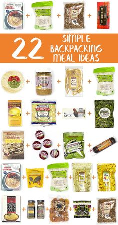 This is an awesome list of simple backpacking food ideas using items from Trader Joe's! via @freshoffthegrid