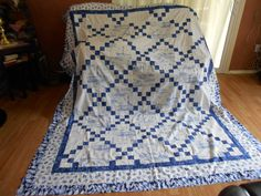 OVERSIZED KING QUILT Top including Backing and by TessieTextile