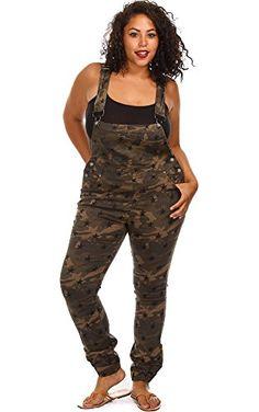 PinkClubwear Plus Size Camo Print Jean Overalls-Camo-1X PinkClubwear http://www.amazon.com/dp/B00MH95ROG/ref=cm_sw_r_pi_dp_JgOaub1TYT3Z8