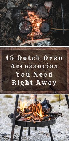 16 Dutch Oven Accessories You Need Right Away (Product List) Discover the 16 Dutch Oven Accessories You Need Right Away for a better camping experience. Fire Cooking, Cast Iron Cooking, Oven Cooking, Outdoor Cooking, Camping Cooking, Skillet Cooking, Outdoor Food, Outdoor Grilling, Camping Kitchen