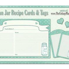 http://thecottagemarket.com/2012/08/free-printable-mason-jar-recipe-cards.html