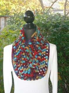 Infinity Eternity Cowl Neck Warmer Scarf by ClusterCrochet on Etsy, $40.00