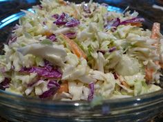 Coleslaw from Thyme In Grammy's Kitchen: Salads.  There are a lot of salad ideas on this blog.  Scroll down through five or six to find this one.
