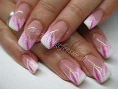 nail care markranstädt, nail design education - Makeup Tips Nail Tip Designs, French Nail Designs, Acrylic Nail Designs, French Nail Art, French Tip Nails, Pink Nail Art, Pink Nails, Gorgeous Nails, Pretty Nails