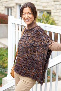 Caron International | Free Project | Easy-Wearing Knit Wrap