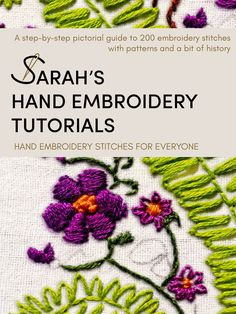 How to do Palestrina Stitch - Sarah's Hand Embroidery Tutorials Hand Embroidery Tutorial, Hand Embroidery Stitches, Cross Stitch Embroidery, Embroidery Designs, Embroidery Books, Simple Embroidery, Sewing Stitches, Crewel Embroidery, Chicken Scratch Embroidery