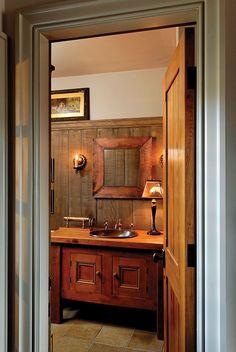 rustic guest baths | Rustic bathroom LOVE :)
