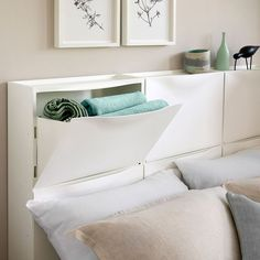 You need to try these easy IKEA hacks that will turn your home from boring to totally chic! Try these awesome Chic IKEA hacks! Hacks so chic, you would never know they are from IKEA. This is the inspiration you need to create your own chic IKEA hack. Diy Storage Headboard, Ikea Headboard, Ikea Hack Bedroom, Headboards For Beds, Bedroom Furniture, Ikea Bedroom Design, Headboard Ideas, Headboards With Storage, Ikea Storage Furniture