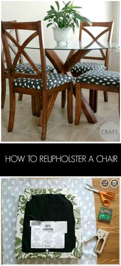How to reupholster a chair: