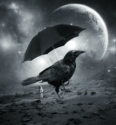 Crow Planet by beyzayildirim77.deviantart.com on @deviantART