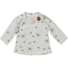 Baobab Grey Starburst Button Tee Long sleeve starburst tee with wooden button
