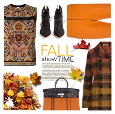 """Fall Show Time"" by sara-cdth ❤ liked on Polyvore featuring Victoria, Victoria Beckham, Hermès, M Missoni, Bottega Veneta, Francesco Russo and Improvements"