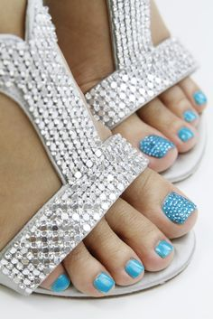 "Bling Bling Bling seems to be the trend these days..Pave Crystal Pedicure --- Let the craze begin. Take to your local nail salon ask for ""Pave Crystal Pedicure"""