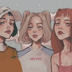 powerpuff girls 🌈 except Bubbles who looks kinda 2005 💃 . Cartoon Sketches, Cartoon Art, Art Sketches, Cartoon Girls, Powerpuff Girls, Cute Art Styles, Pretty Art, Art Sketchbook, Aesthetic Art