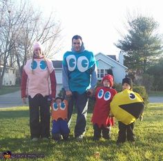 Pac Man and Ghosts - Halloween Costume Contest via @costumeworks