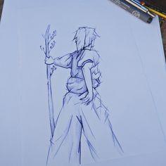 Samouraï, nature 🍁 Dessin au bic Nature, Drawing Drawing, Naturaleza, Nature Illustration, Off Grid, Natural