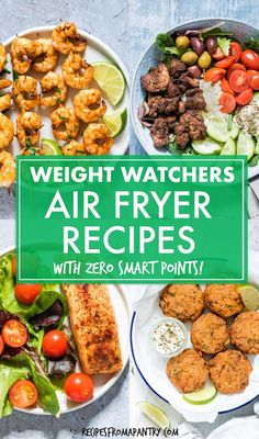 Weight Watchers Air Fryer Recipes - With the air fryer, you can enjoy delicious healthier, low calorie meals, sides and snacks! Healthy Low Calorie Meals, No Calorie Foods, Healthy Meal Prep, Low Calorie Recipes, Healthy Eating, Healthy Weight, Ww Recipes, Lunch Recipes, Appetizer Recipes